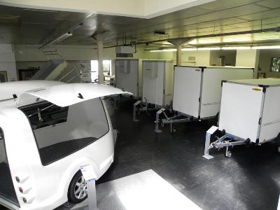 Weijer showroom gesloten aanhangwagens