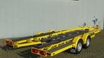 geel gepoedercoate trailer