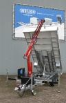 kraan opbouwen op aanhangwagen
