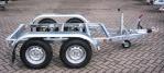 Weijer tandemas aggregaat chassis zonder vloer.