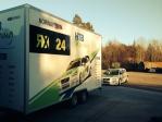Weijer rally auto aanhangwagen