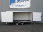 Weijer plateauwagen met twee grote zijdeuren