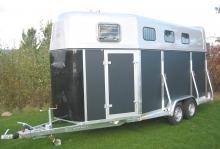 Weijer Cavalier Espace 3 paards houten trailer